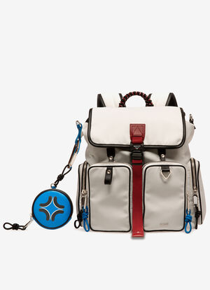 WHITE NYLON Backpacks - Bally