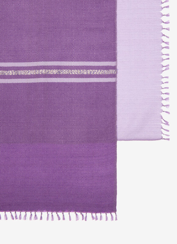 PURPLE MIX SILK/WOOL Scarves - Bally